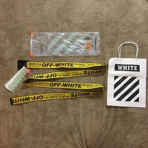 BRAND NWT AUTHENTIC OFF WHITE INDUSTRIAL BELT